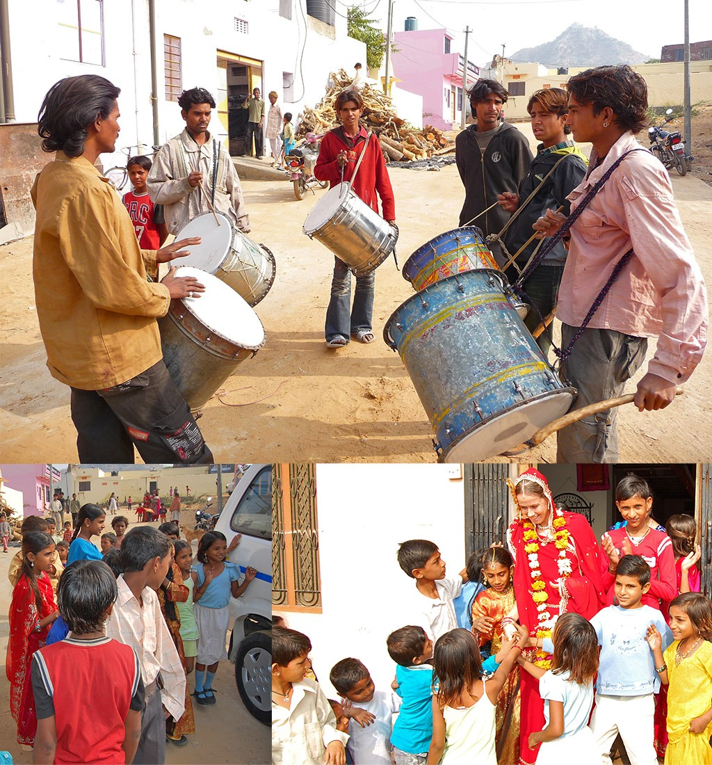 trouwen in India drumband