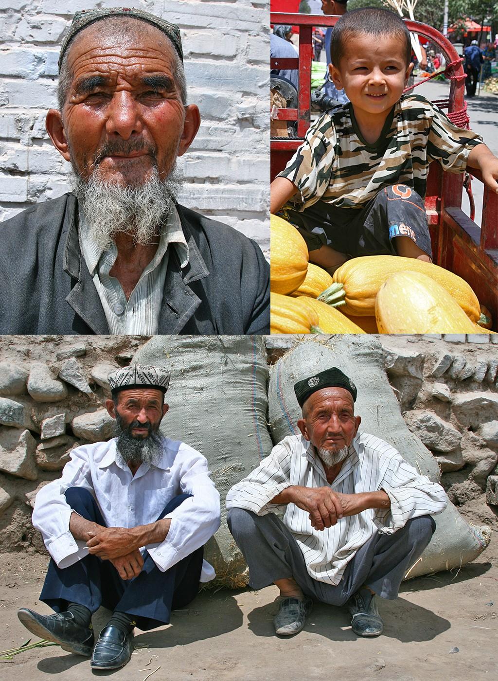 vriendelijke trotse Oeigoeren in Kuqa