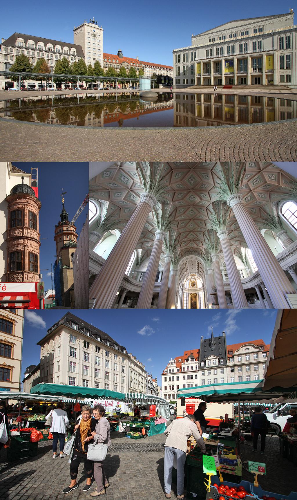 wandeling door het centrum van Leipzig