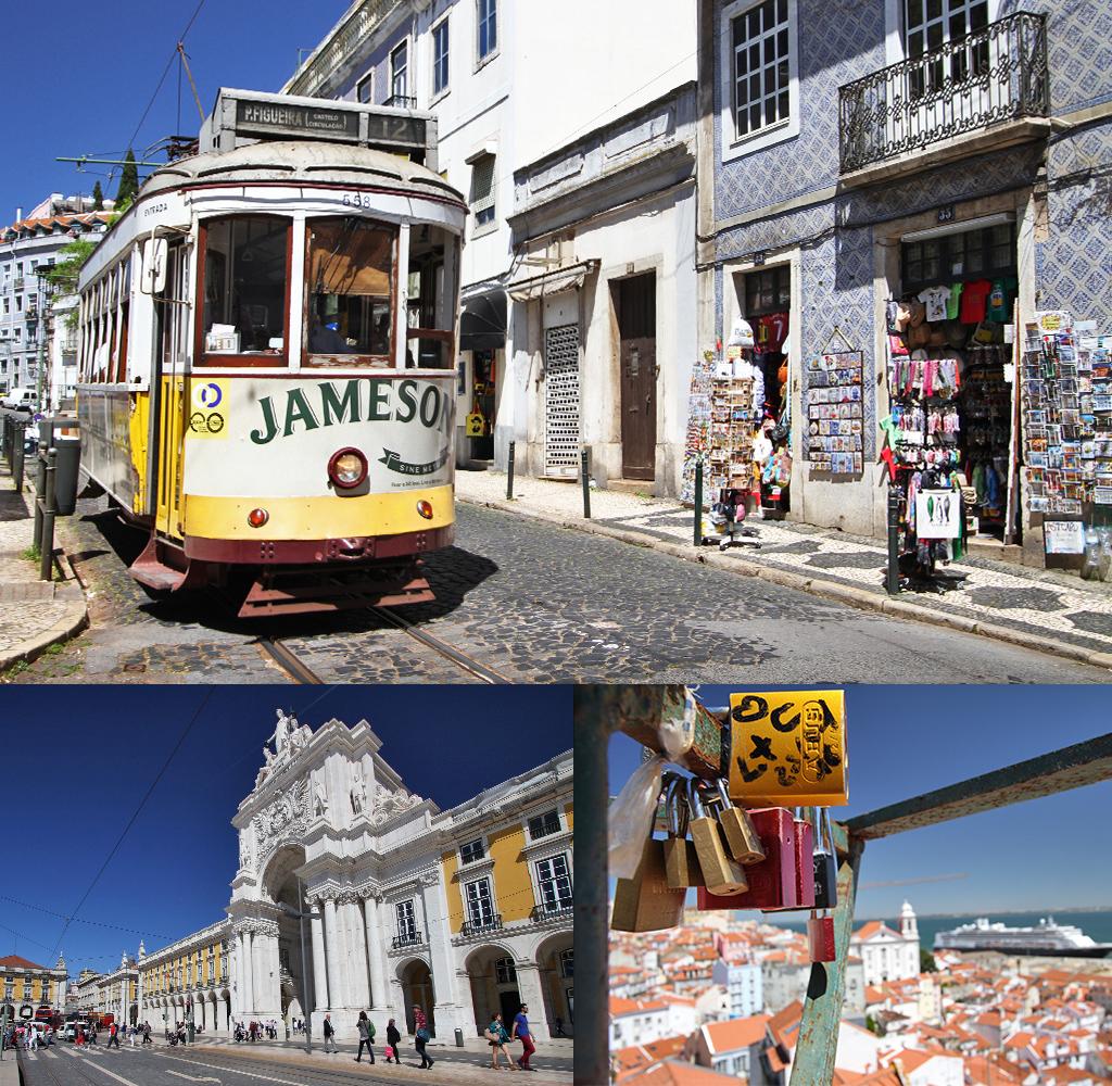 wereldkaart met foto's Portugal