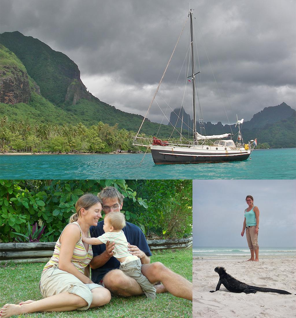 wereldreis met zeilboot en baby kennismaking