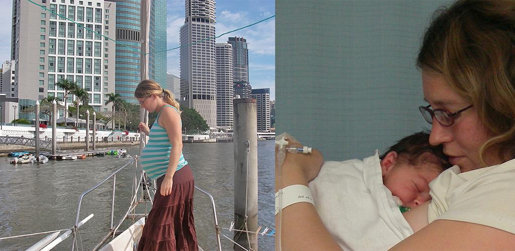 wereldreis zeilboot en baby bevallen in australie