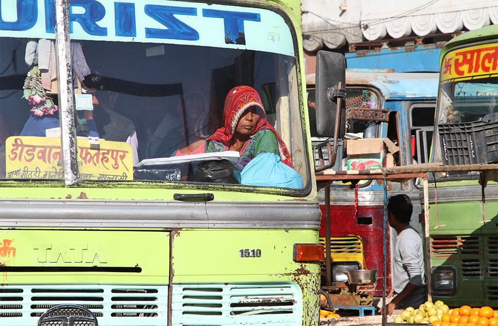 Zoek drukke plekken op voor straatfotografie India