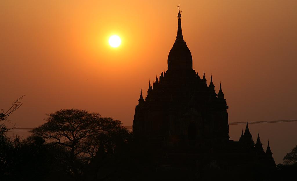 zonsondergang Bagan Zuid-Oost Azië must see