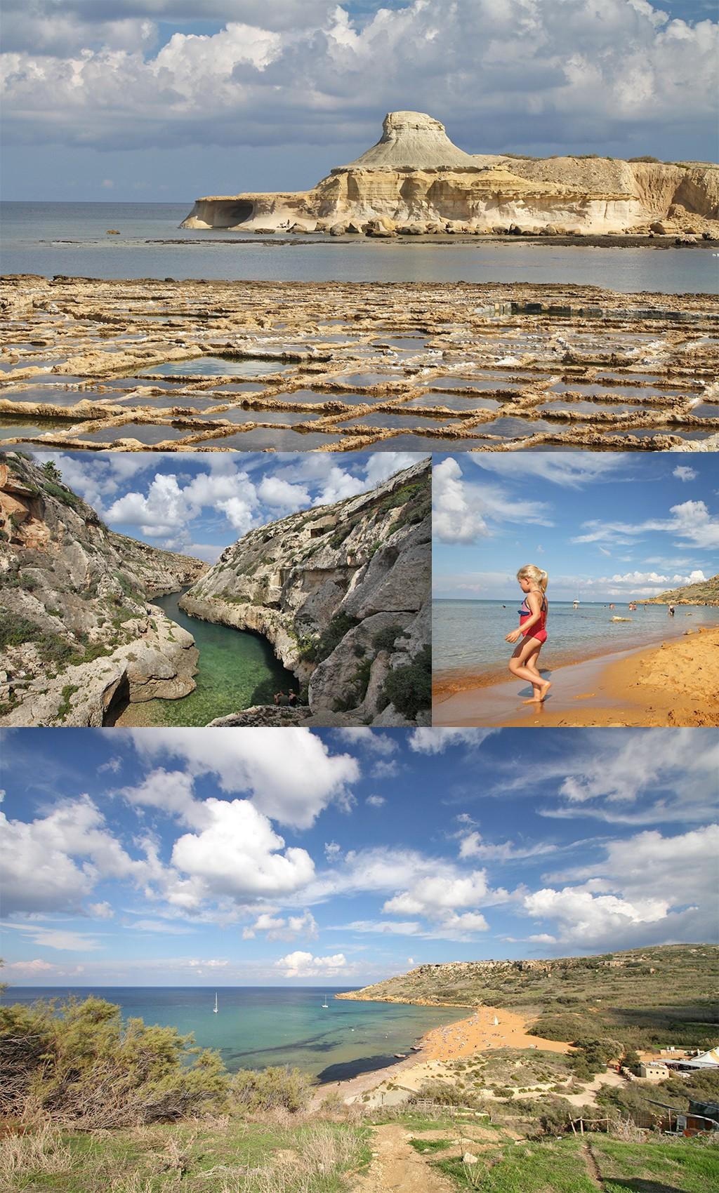 zoutpannen en stranden Gozo